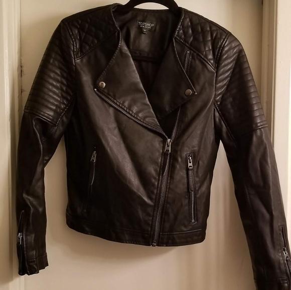 a2e7a8c2e Topshop Faux leather biker jacket